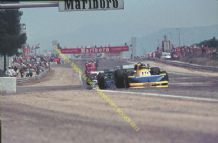 MARCH 761 - Ronnie Peterson  leading others at speed 1976 French GP.